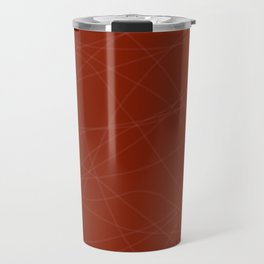 Red with Lines Travel Mug