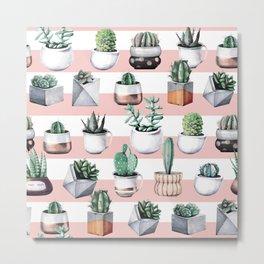 Cactus Pattern 02 Metal Print
