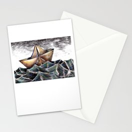 """""""She dreams of the ocean late at night, and longs for the wild salty air."""" Stationery Cards"""