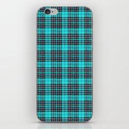 Lunchbox Blue Plaid iPhone Skin