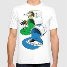 Luxury Paints White Mens Fitted Tee SMALL