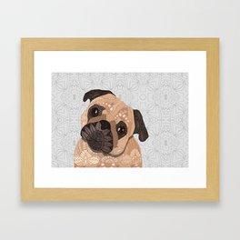 Pug Hug Framed Art Print