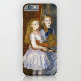 Auguste Renoir  -  The Daughters Of Catulle Mendes  Huguette  Claudine And Helyonne iPhone Case