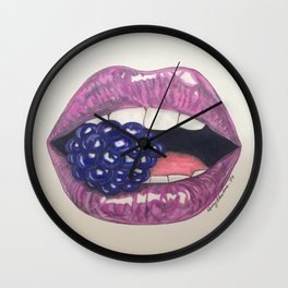 Bite That Berry Wall Clock