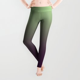 Modern mint green purple ombre pattern Leggings