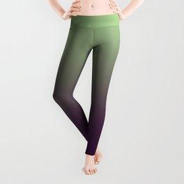 Modern mint green purple ombre pattern Leggings
