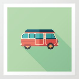 Retro Minivan Art Print