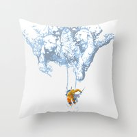 wallet Throw Pillows featuring Avalanche by Aneesh vini