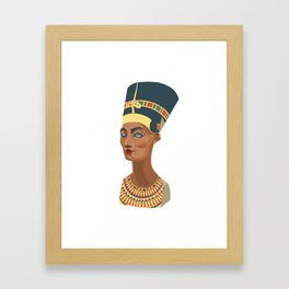 nefertiti bust Framed Art Print