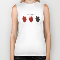 health Biker Tanks featuring Heart Health by Tanner Marshall