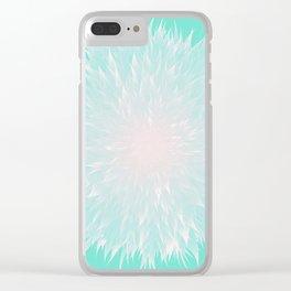 Mandala Flower Turquoise Clear iPhone Case