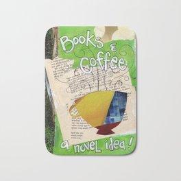 Books and Coffee Bath Mat