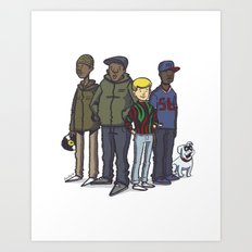 A Tribe Called Jonny Quest Art Print