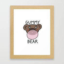 Gummy Bear Framed Art Print