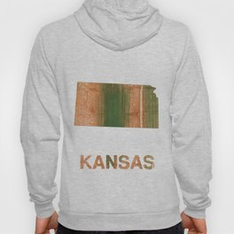 Kansas map outline Peru green streaked wash drawing illustration Hoody