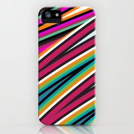 Hot Colored Retro Wave Stripe Lines iPhone Case
