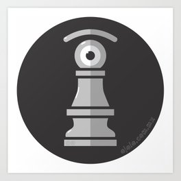 pawn's eye b&w Art Print