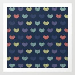 Colorful Cute Hearts Art Print