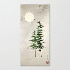 midnight pines Canvas Print