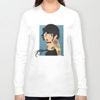 rockabilly Long Sleeve T-shirts featuring Rockabilly by Katherine Galo