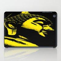 buddah iPad Cases featuring Buddah Head 01; Gold  by Kether Carolus
