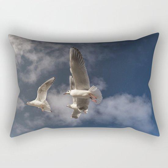 Sea-gulls Birds Animal in flight Rectangular Pillow