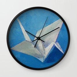 Origami Crane Wall Clock