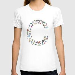 letter c - sea creatures T-shirt