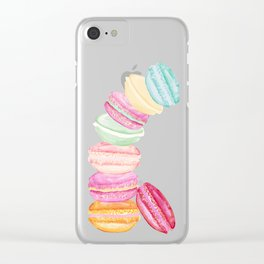 MACARONS & STARS Clear iPhone Case