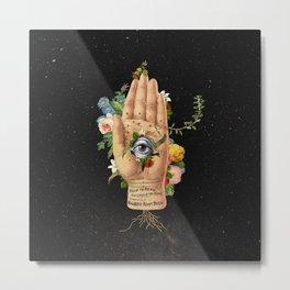 Floral Hand Metal Print