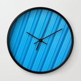 Stripes II - Blue Wall Clock