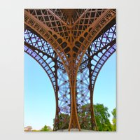 eiffel Canvas Prints featuring Eiffel by Camille Renee