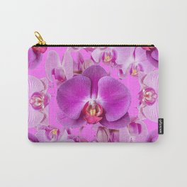 Ornate Pink & Purple  Butterfly Orchids Carry-All Pouch