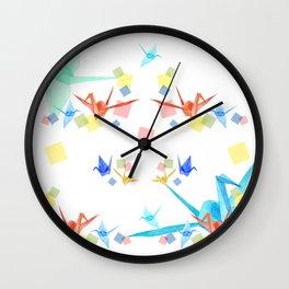 Origami the Japanese art Wall Clock