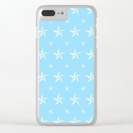 Stella Polaris Light Blue Design Clear iPhone Case