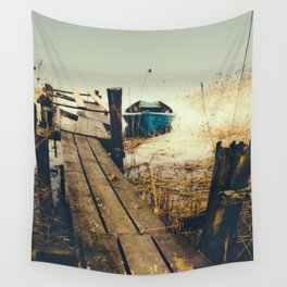 Crooked fisherman Wall Tapestry