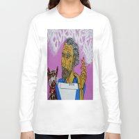 bukowski Long Sleeve T-shirts featuring Bukowski by Pluto00Art / Robin Brennan