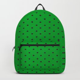 Neon Green and Black Tiny Dots Backpack