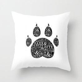 Bark & Bite Throw Pillow