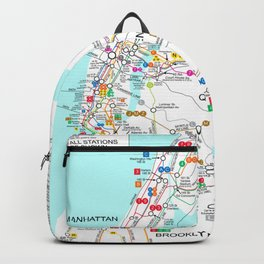 New York City Metro Subway Map Backpack