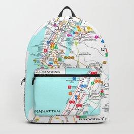 New York City Metro Subway Map Backpack