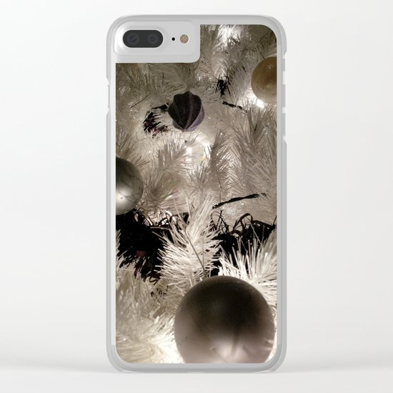 SILVER BAUBLES Clear iPhone Case