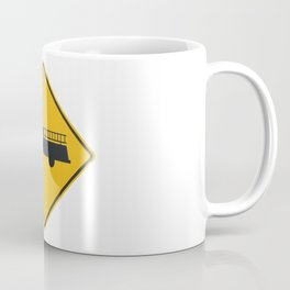 Yellow Firetruck Firehouse Traffic Sign Coffee Mug