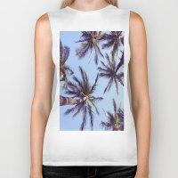 palm trees Biker Tanks featuring Palm trees by Brenda Alvarez