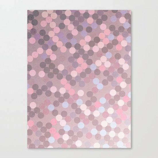 Polka Dots Geometry Canvas Print