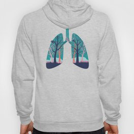 Human lungs with abstract forest inside illustration Hoody