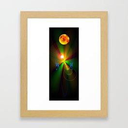 Light show 3 Framed Art Print