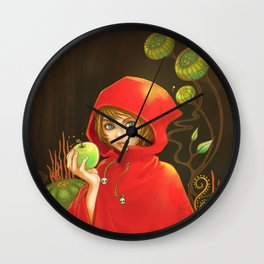 Poison Apple & A Little Red Hood Wall Clock