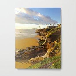 Pismo Beach Cliff Metal Print