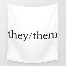 they/them pronouns Wall Tapestry